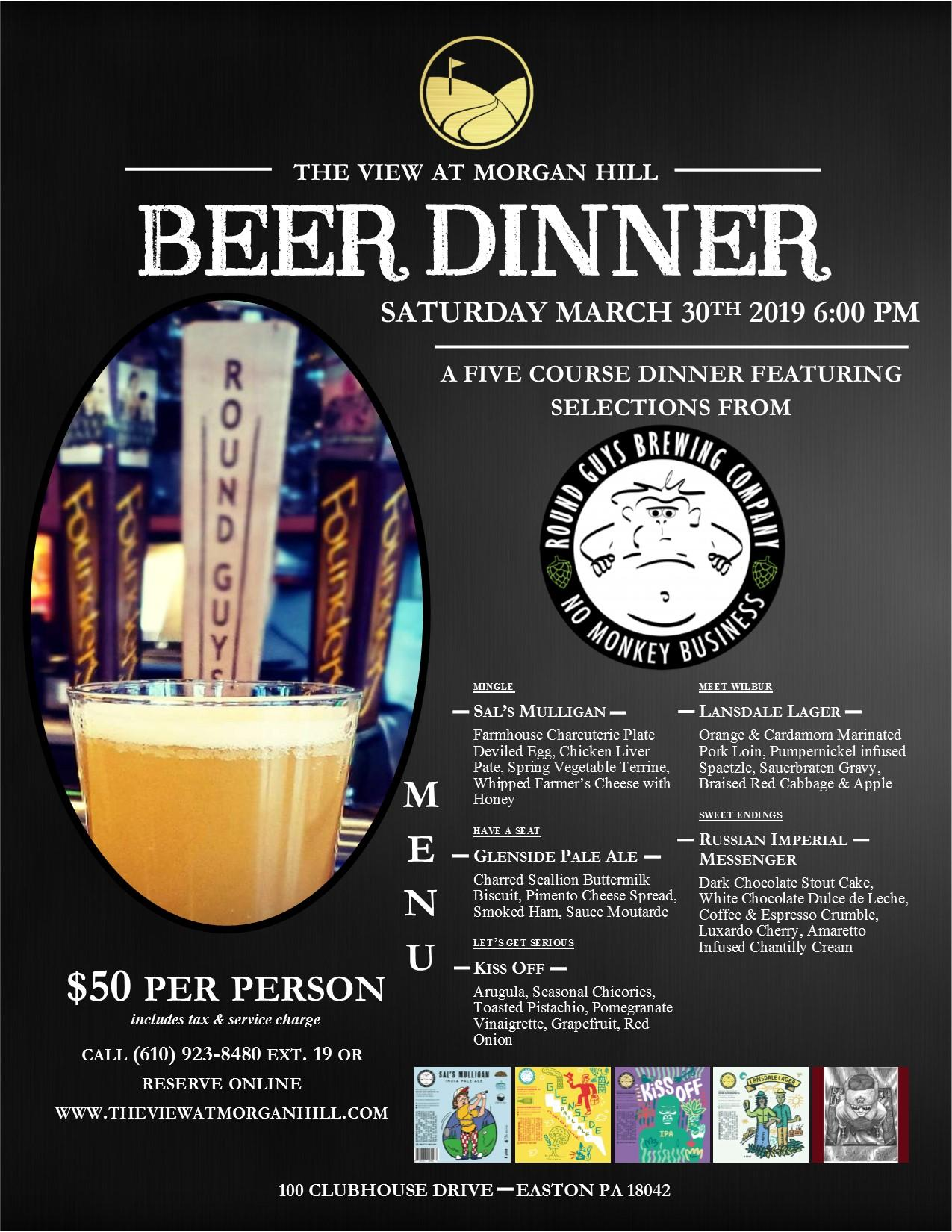 March Beer Dinner